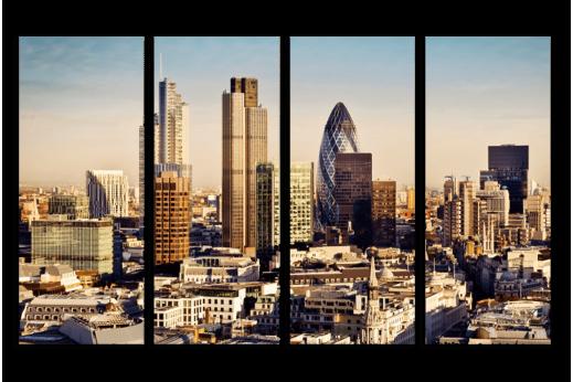 Модульная картина Лондон бизнес центр